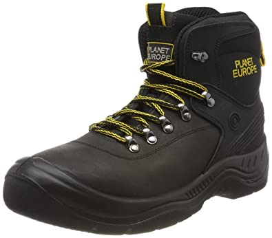 Planet Europe Track S3 Sicherheitsschuhe Schwarz, Unisex Adults Safety Shoes Gevavi