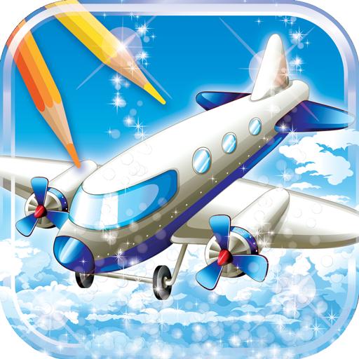 Aeroplane Coloring Book
