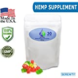 Serenity Hemp Extract Gummies 300mg - Full spectrum Hemp Gummy Bears - 10mg per gummy - 30ct - Tastes Like Hemp - Pain & Anxiety Relief