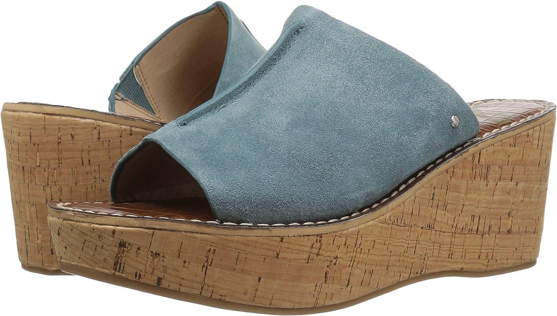 bluee Shawdow Velutto Suede Leather Sam Edelman Women's Ranger Wedge Sandal