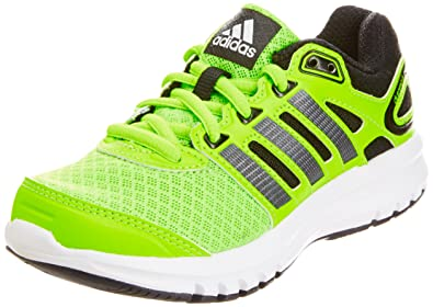 hot sale online bd5be a9674 Adidas Boy s DURAMO 6 K Green, Black and White Mesh Sports Shoes - 12 kids