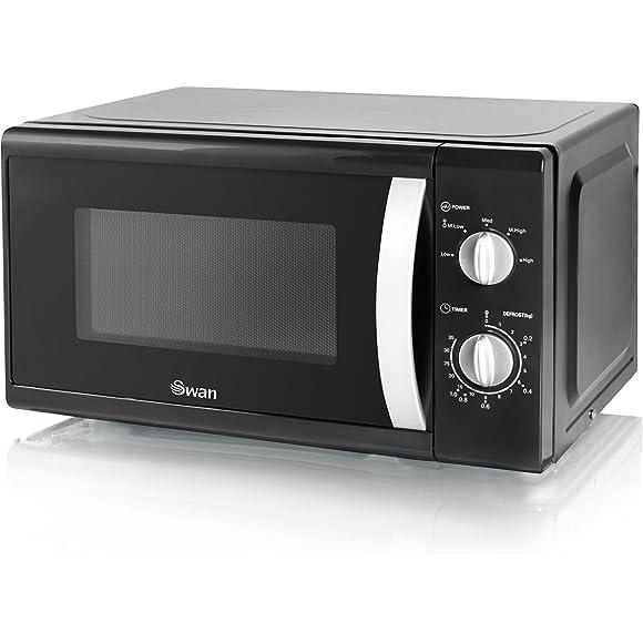 Swan Solo Black Microwave - 800 W
