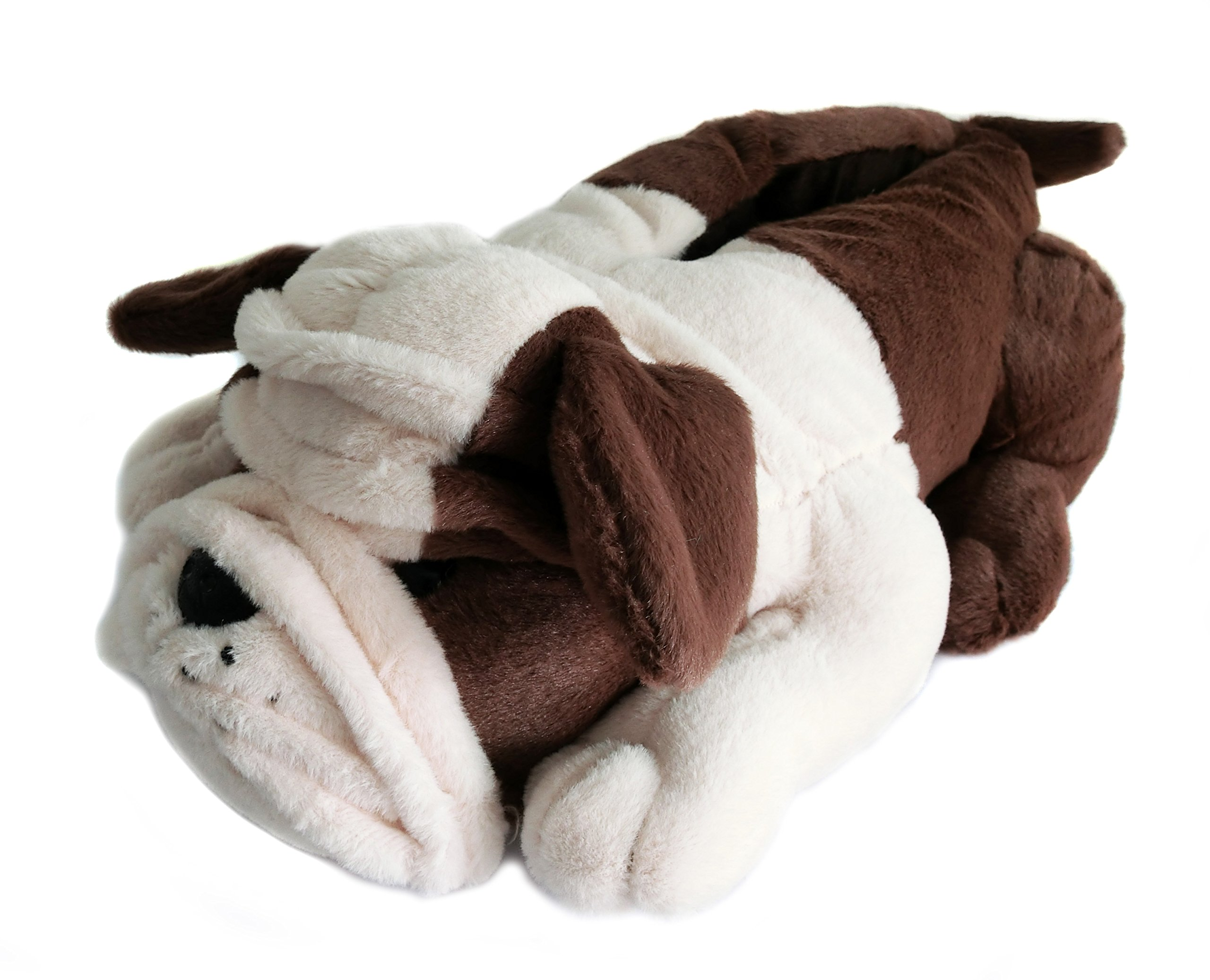 Fuzzy Winter Indoor Animal Bulldog Slippers for Adult and Kid, Bull Dogs (US Women Size 7-9, Coffee Bulldog) by Onmygogo (Image #3)
