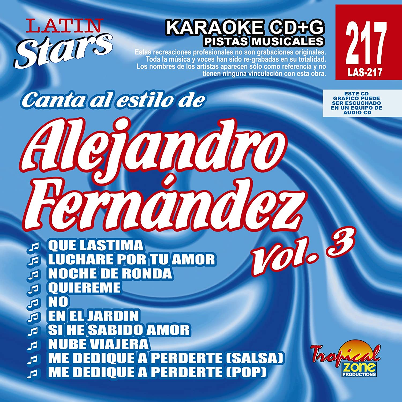 Alejandro Fernandez - Karaoke: Alejandro Fernandez - Latin Stars ...