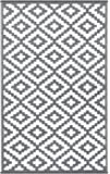 in outdoorteppich raute grau creme 102467 gr e 80x150 k che haushalt. Black Bedroom Furniture Sets. Home Design Ideas