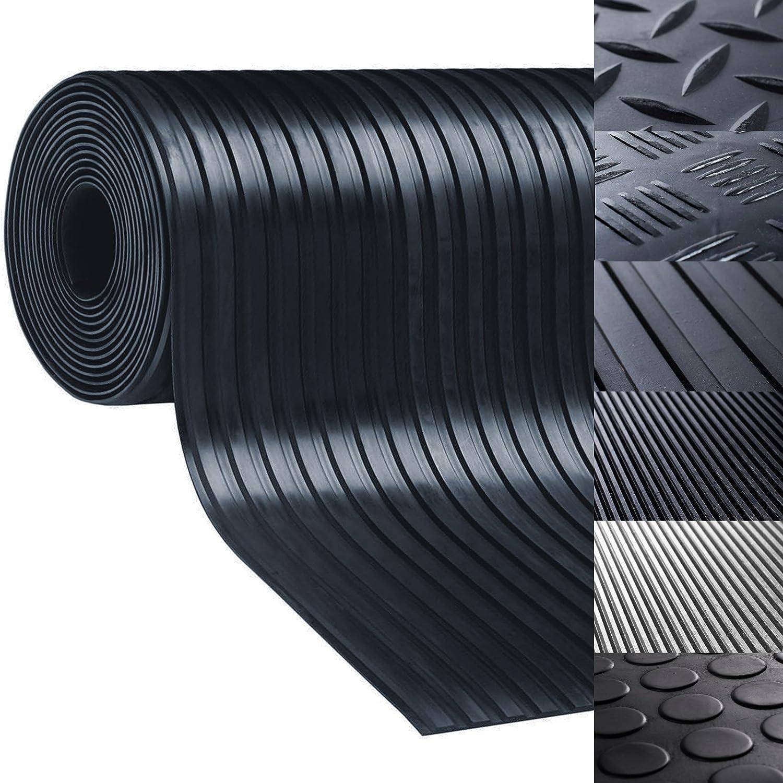 tapis noir pastill/é r/ésistant nombreux mod/èles et tailles antid/érapant isolant int/érieur ou ext/érieur Rev/êtement de sol etm/® tapis caoutchouc 150x500cm