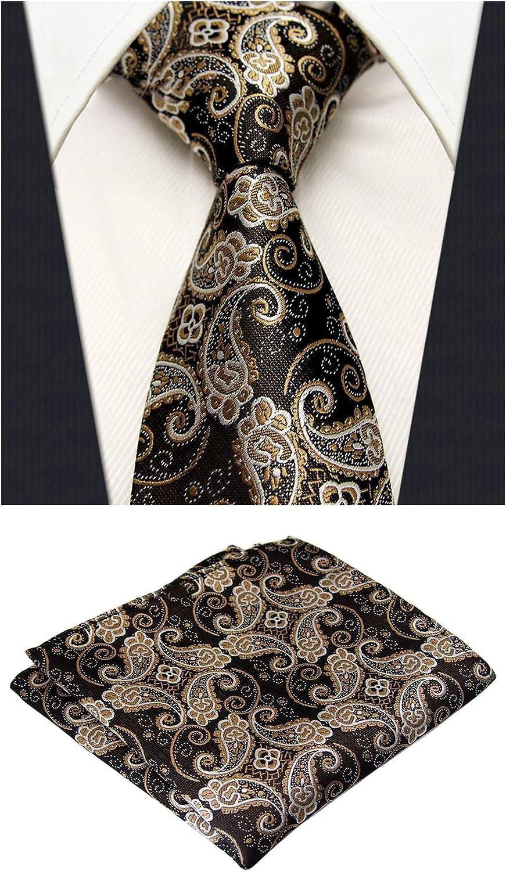 MOHSLEE Mens Luxury Wedding Suit Tie Handky Silk Suit Necktie Pocket Square Set