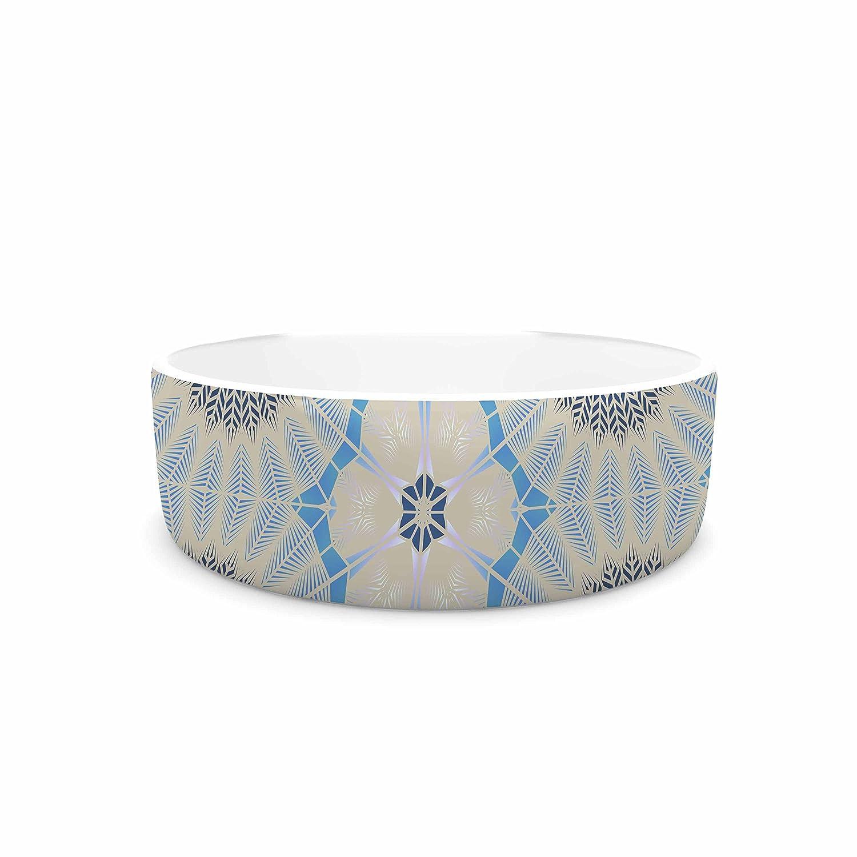 7\ KESS InHouse Angelo Cerantola Satori  Beige bluee Pet Bowl, 7
