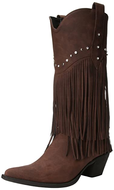 Roper Women's Fringe and Stud Western Boot,Brown,5 ...
