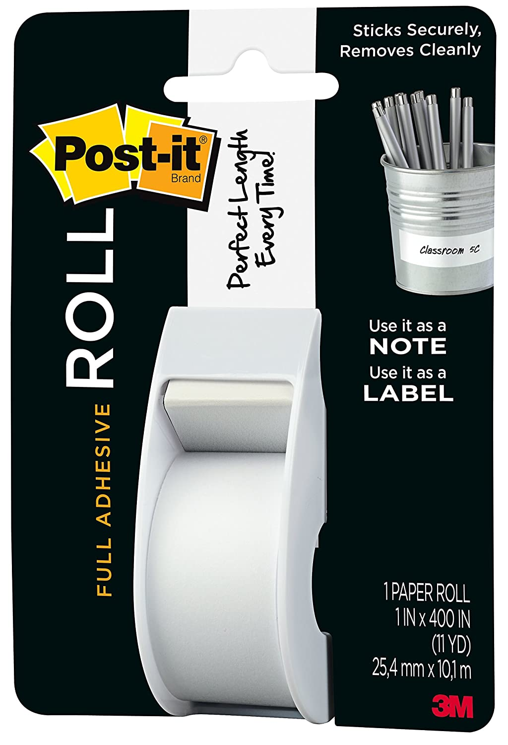 Post-it Full Adhesive Roll Yellow 1 in x 400 in 1-Pack 2650-Y