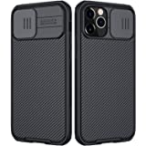imluckies Compatible for iPhone 12/12 Pro Case with Camera Cover, Hard PC Back & Soft Bumper, Protective & Slim Fit, Camera P