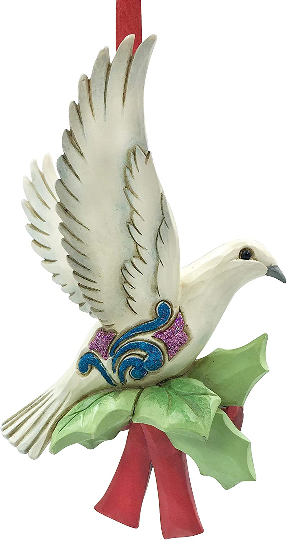 Enesco Jim Shore Heartwood Creek Legend of The Turtle Dove Hanging Ornament