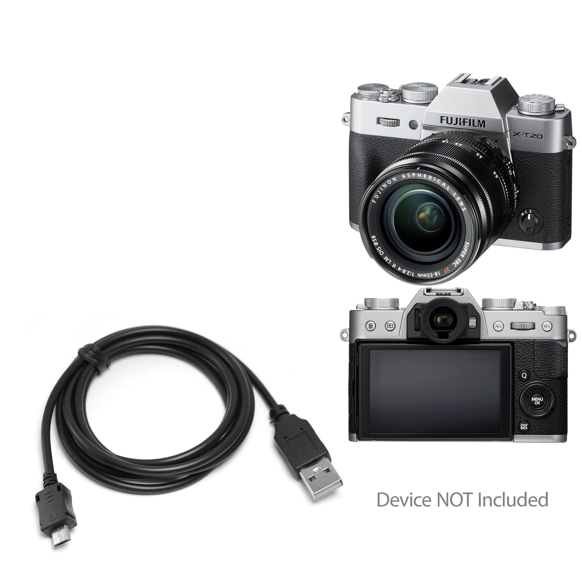 Fujifilm X-T20 Cable, BoxWave [DirectSync Cable] Durable Charge and Sync Cable for Fujifilm X-T20