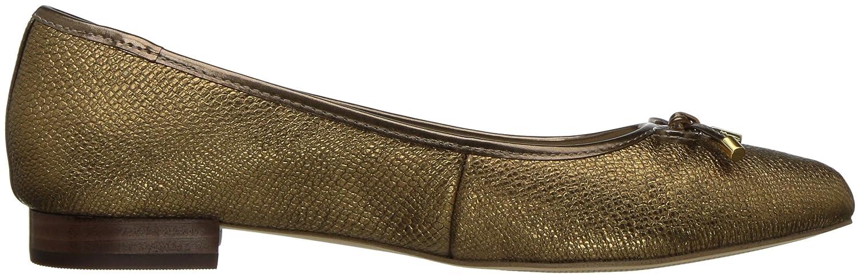 Anne Klein Women's OVI Reptile Ballet Flat B072F3G79G 8 B(M) US|Metallic/Bronze