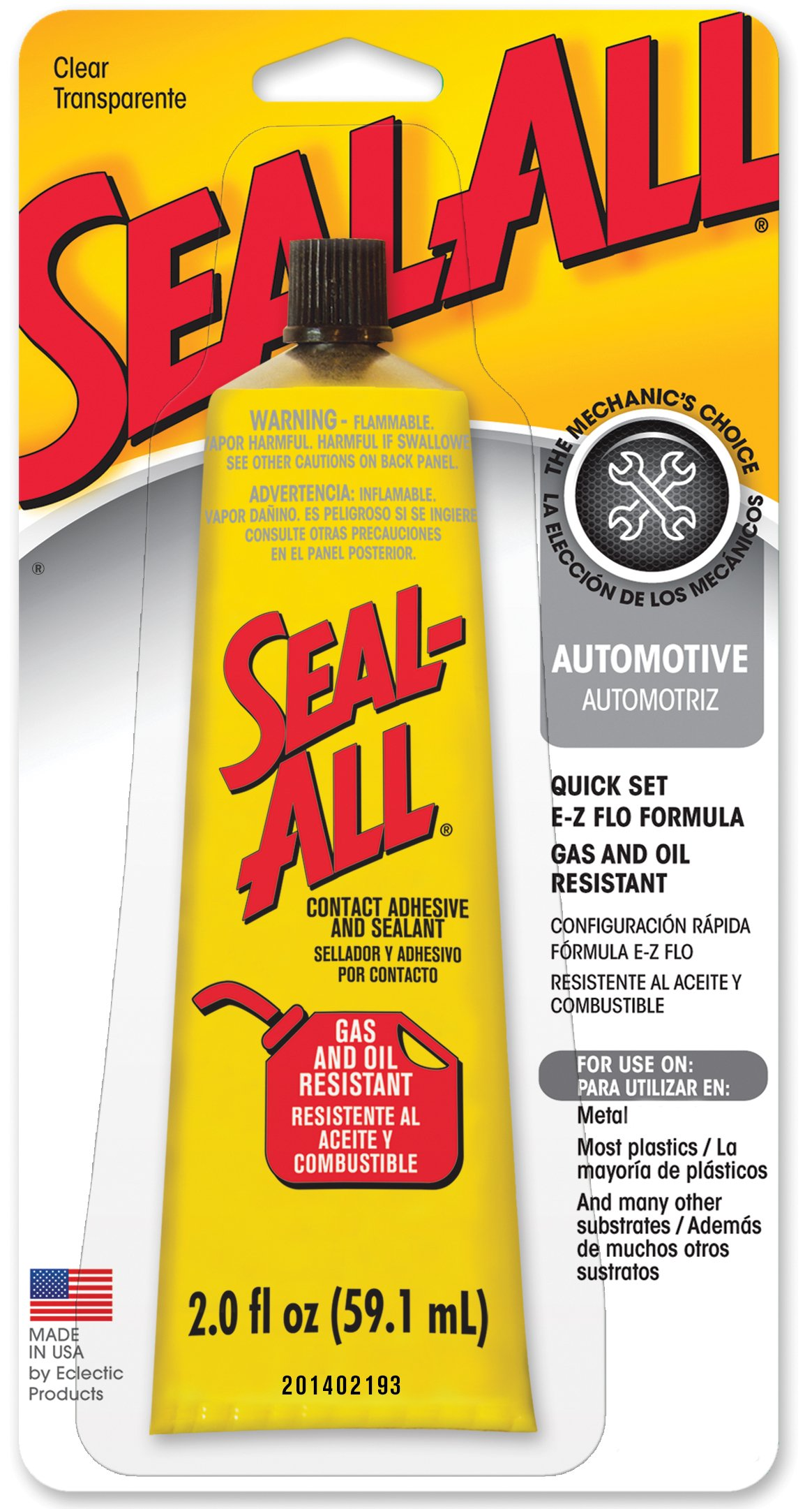 Seal-All 380112 Contact Adhesive and Sealant - 2 fl oz product image