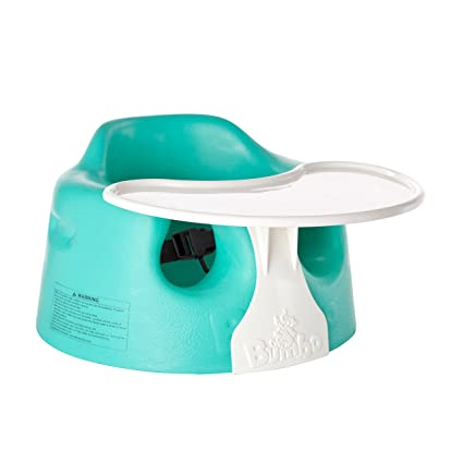 Bumbo - Conjunto de asiento y bandeja de suelo para bebé azul agua