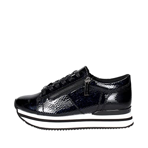 Fornarina PE17TI1001G000 Sneakers Bassa Donna NERO BLU 35 c3b2903e7b0