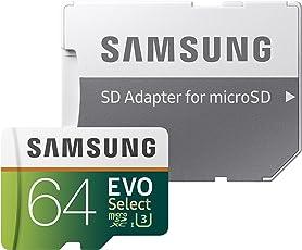 Samsung MB-ME64GA/AM Tarjeta de Memoria microSDHC EVO Select DE 64 GB con Adaptador