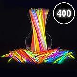 "Glow Sticks Bulk Party Favors 400pk - 8"" Glow in The Dark Party Supplies Light Sticks, Stocking Stuffers, Glow Necklaces and Bracelets for Kids"