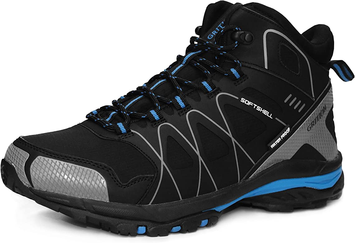 GRITION Mens Walking Boots Waterproof