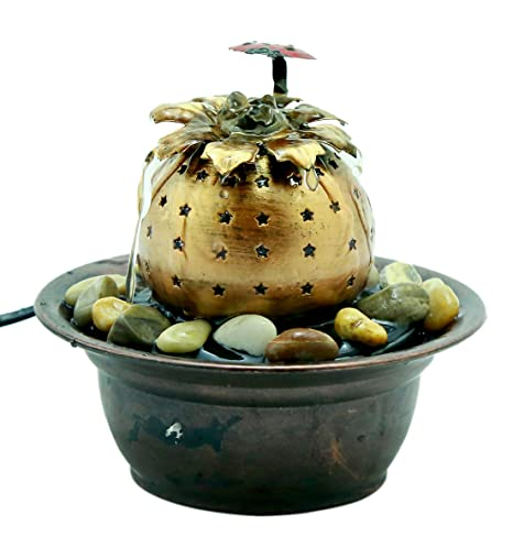 Importwala Lady Bug Metal Electronic Indoor Decorative Water Fountain for Home Decor/ Table/Office/ Living Room/ Gifts (Dimensions: 6*6*5.5 inch)