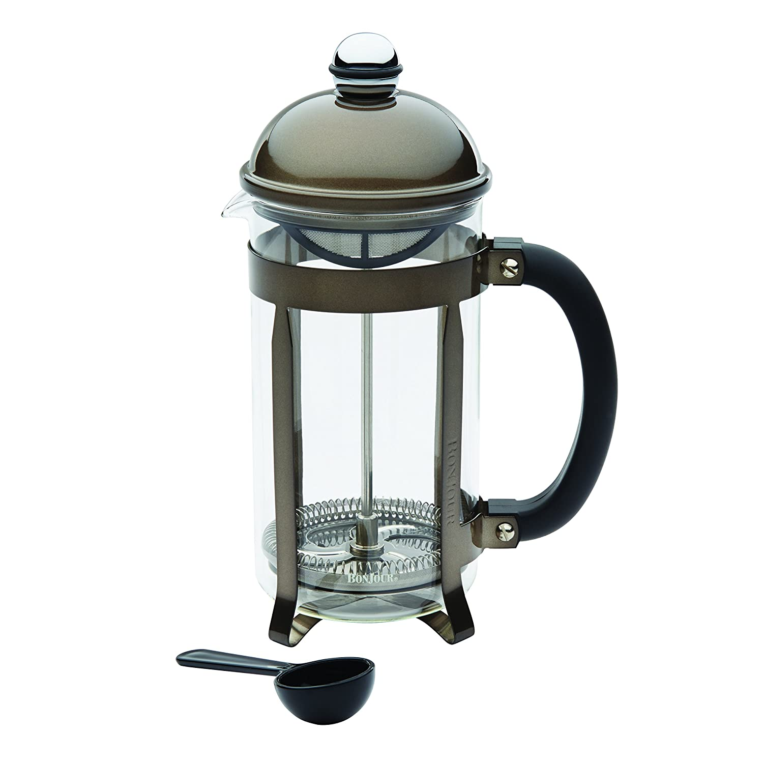 BonJour Coffee 8-Cup Maximus French Press Stainless Steel