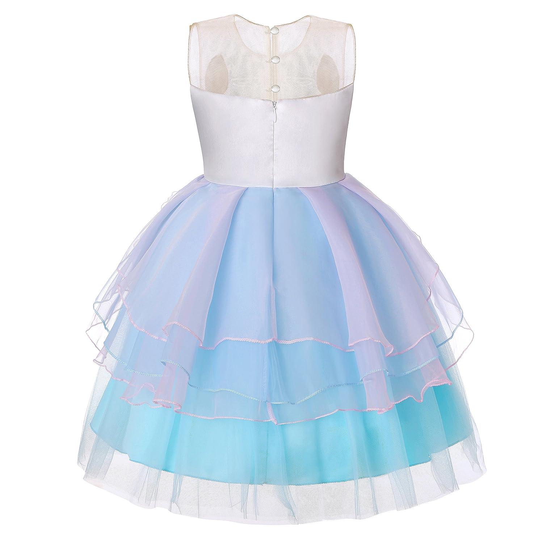 Molliya Unicorn Costume Dress Girl Princess Pageant Party Dresses Flower Evening Gowns Tutu Fancy Dress Dance Fairy