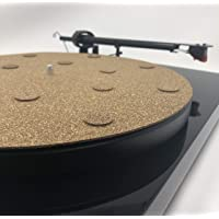 "CoRkErY Decoupled Cork N Rubber Turntable Platter Mat €"" 1-8″ €"" Audiophile Anti-Static Slipmat €"" Made in USA"
