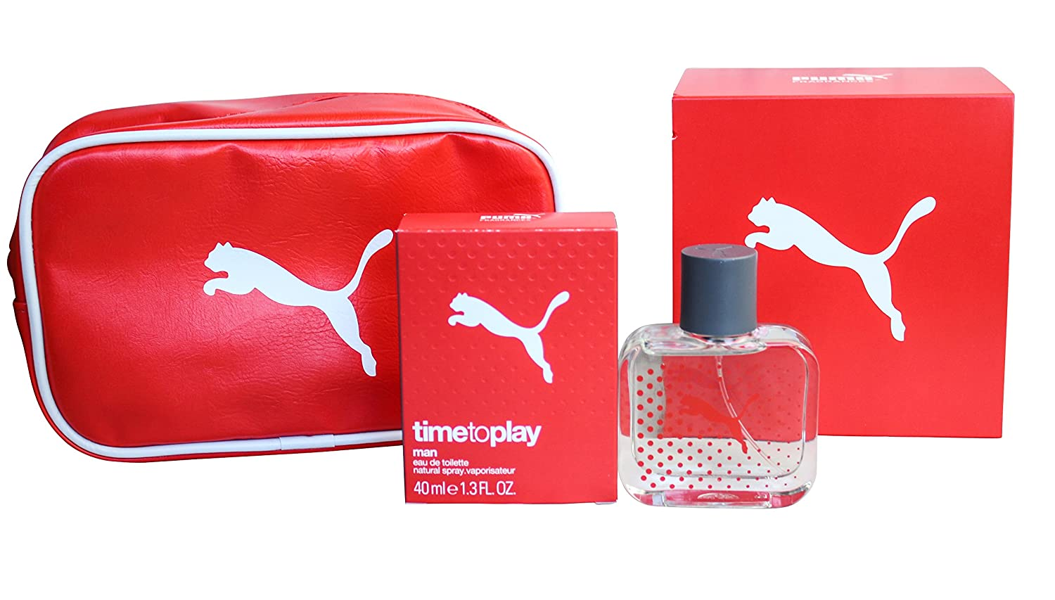 Puma Time to Play Perfume & Bag Gift Set for Men: 40ml EDT + Toiletry Bag