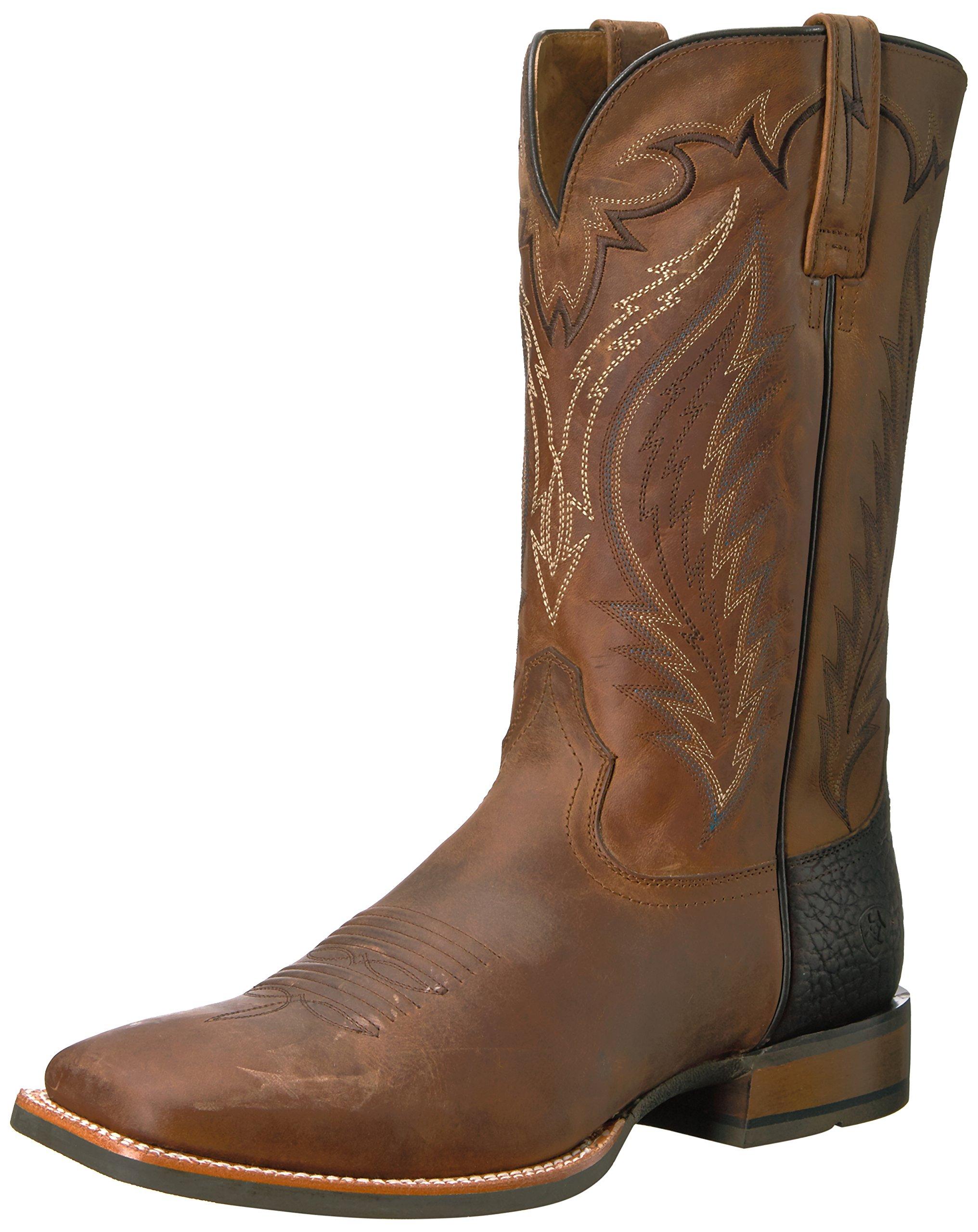 Ariat Men's Top Hand Work Boot, Trusty Tan, 11 D US