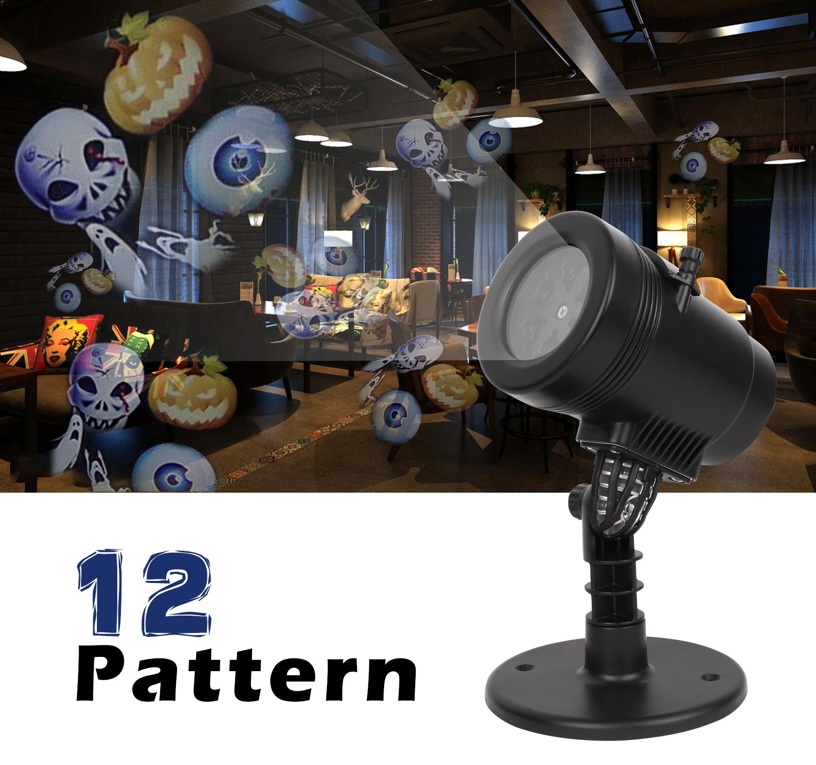 New 2017 Christmas Light Projector LED 12 Switchable Patterns Indoor Mini Spotlight for Child Birthday Gift Xmas Hallowmas Holiday Wedding Party Decoration