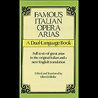Famous Italian Opera Arias: A Dual-Language Book (Dover Vocal Scores) book cover