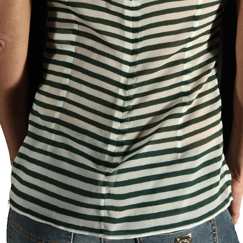 113 Maglia DOLCE&GABBANA D&G Seta Donna t-Shirt Women Bianco/Verde