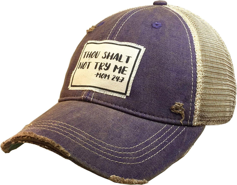 VINTAGE LIFE Distressed Washed Fun Baseball Trucker Mesh Cap