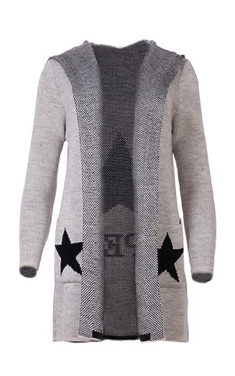 234c0c93ef Fashion You Want Damen Cardigan Größe 34-48verfügbar Sterne Star Strick  Strickjacke Bolero Mantel Jacke Übergröße: Amazon.de: Bekleidung