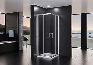 Dusar cabinas de ducha Altura 195 cm esquina. Roya Lux Neo con puertas correderas ajustable ducha esquina ducha ajustable y muchos tamaños cuadrado y rectangular: Amazon.es: Bricolaje y herramientas