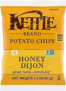 product image for Kettle Brand Potato Chips, Honey Dijon, Single-Serve 1.5 Ounce Bags (Pack of 24)