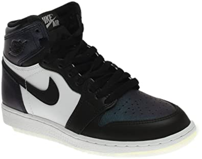 super popular 6460b 4a364 NIKE Air Jordan 1 Retro Hi OG Black MetallicSilver 907959-015 (Size