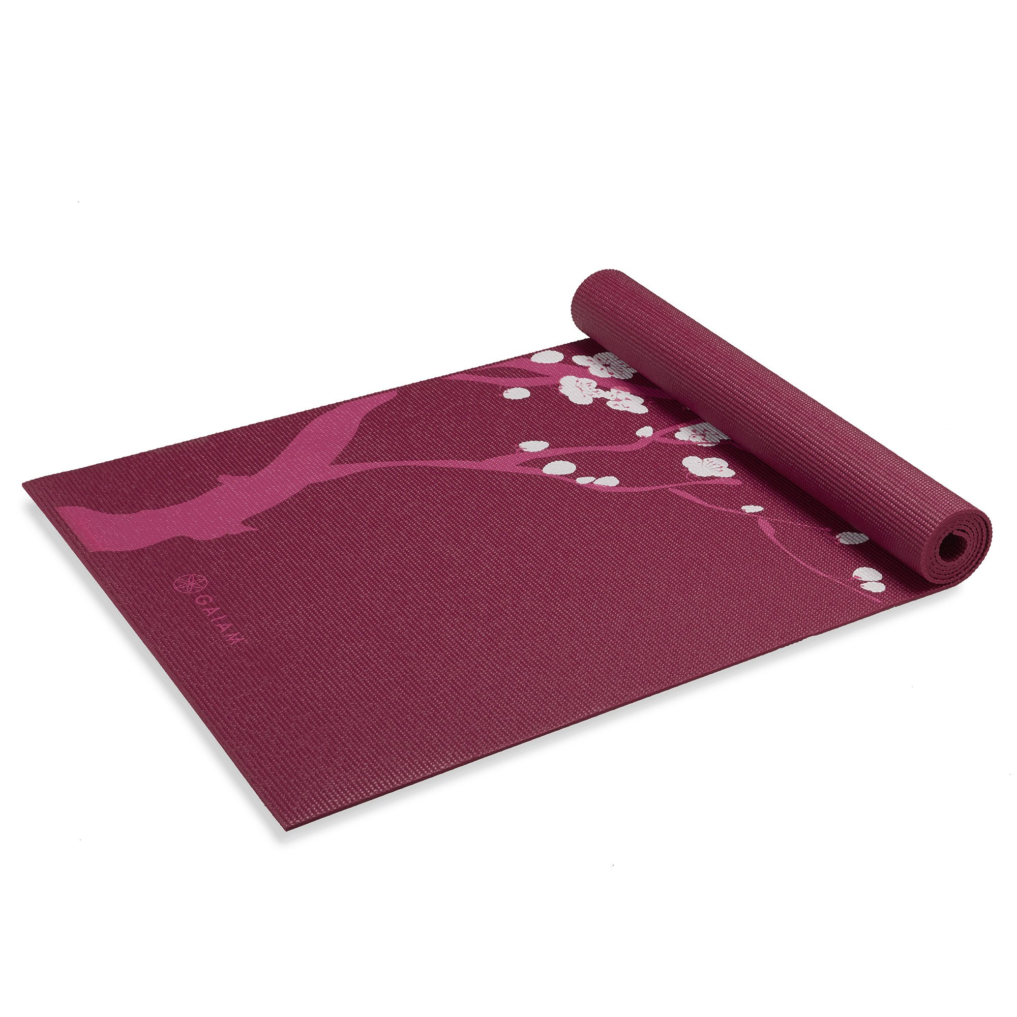 Gaiam Yoga Mat Premium 6mm Print Extra Thick Exercise