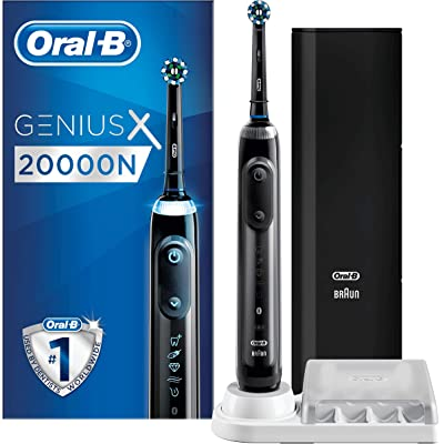 Oral-B Genius X 20000N - Cepillo De Dientes Eléctrico con Tecnología De Braun, Negro