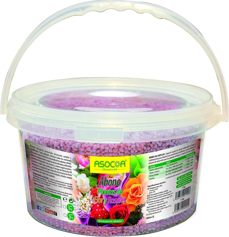 ASOCOA - Abono Plantas de Flor y Rosales. 3 Kg
