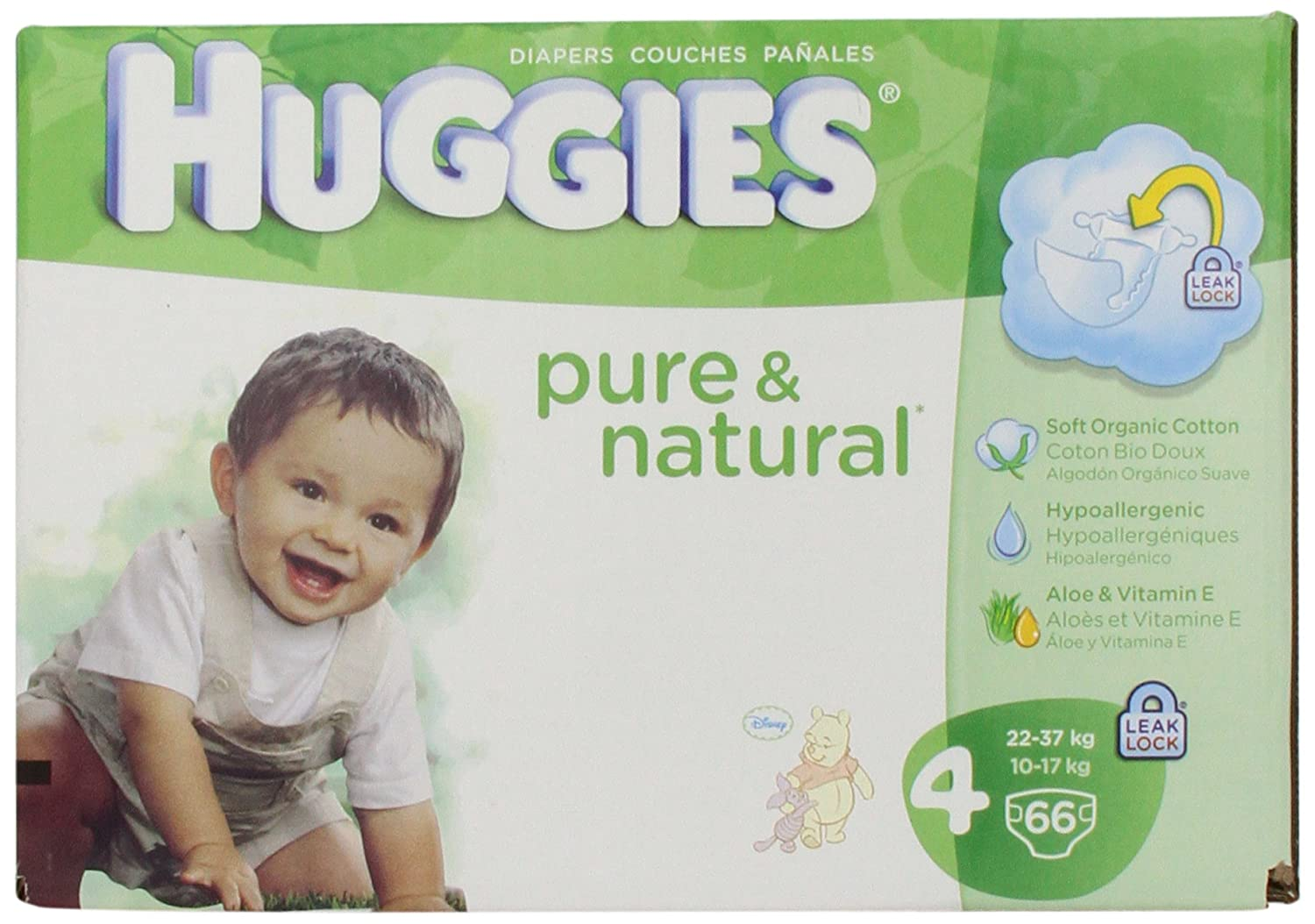 Amazon.com: Huggies Pure & Natural Diapers - Size 4 - 66 ct: Health & Personal Care