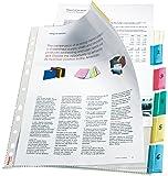 Esselte Pochettes Intercalaires Perforées, 6 Touches, Transparent, Lisse, A4, Polypropylène 130 Microns, 414160