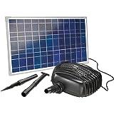 Esotec kit pompe solaire bassin, plan d eau, puissant garda