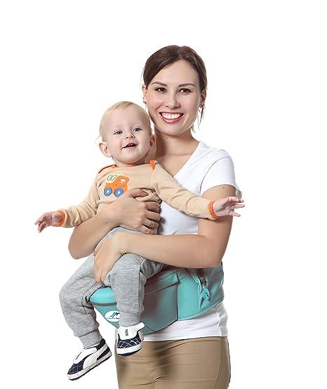 Marsupio Multifunzione per Bambino 8 in 1 con Seggiolino da anca e ...