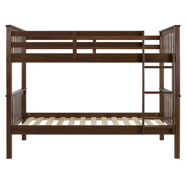 Walnut WE Furniture AZWTOTMSWT Twin Bunk Bed