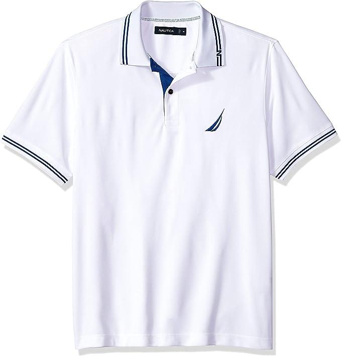Nautica - Polo de rugby para hombre, diseño de rayas, color azul ...