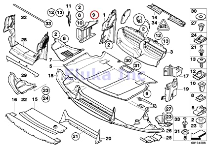 Amazon Com Bmw Genuine Engine Compartment Shield Underfloor Air