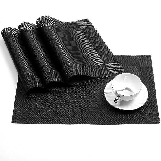 conjunto de 4 manteles individuales de vinilo antideslizante resistente al calor para la mesa de comedor de cocina: Amazon.es: Juguetes y juegos
