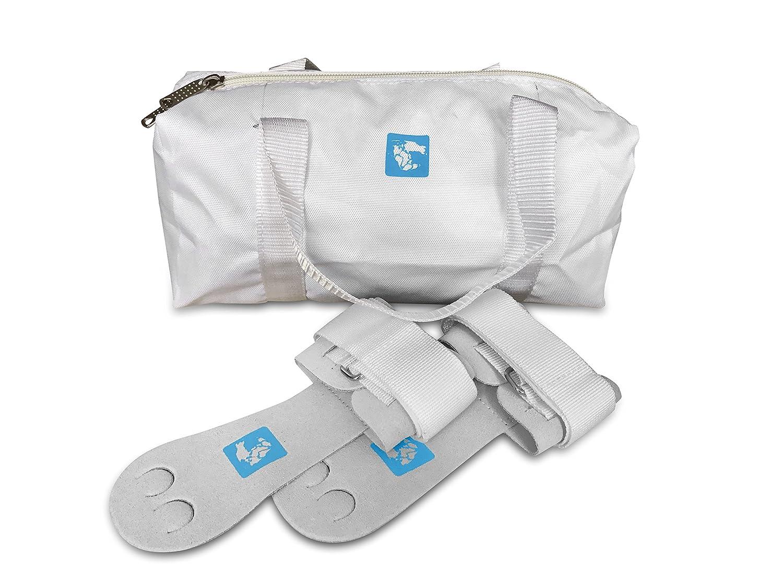 GymAdvisor Junior/Senior Gymnastique Palm Main gardes + Blanc Competition kit Sac